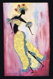 Cuban Carnival Dancer Print on Canvas by Augusta Asberry