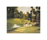 The 9th Tee Giclée-tryk af Ted Goerschner