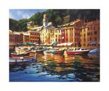 Colores de Portofino Lámina giclée por Michael O'Toole