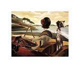 Road to Cannes Giclee Print by Trish Biddle