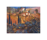 View From San Gimignano Giclee Print by Philip Craig