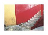 Red Stairway Giclee Print by Douglas Steakley