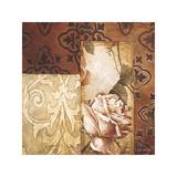 Linen Roses I Giclee Print by Linda Thompson