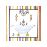 Striped Bath I Giclee Print by Elizabeth Jardine
