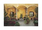 Patio Villa Toscana Reproduction procédé giclée par Montserrat Masdeu