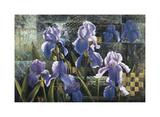 Iris Garden Giclee Print by Fangyu Meng