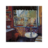 Cafe Le Boulevard, Paris Giclee Print by Manel Doblas