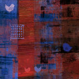 Red Bird Blue II Posters