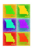 Missouri Pop Art Map 2 Print by  NaxArt