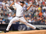 Sep 22, 2013 - New York, NY: San Francisco Giants v New York Yankees - Andy Pettitte Fotografisk tryk af Maddie Meyer