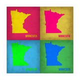 Minnesota Pop Art Map 1 Poster by  NaxArt