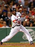 Sep 19, 2013 - Boston, MA: Baltimore Orioles v Boston Red Sox - Dustin Pedroia Photographic Print by Jim Rogash