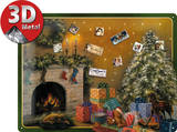 Christmas Tree Magnetic Board Targa in metallo