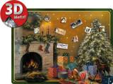 Christmas Tree Magnetic Board Targa in metallo