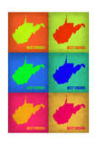 West Virginia Pop Art Map 1 Posters by  NaxArt