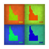 Idaho Pop Art Map 1 Posters by  NaxArt