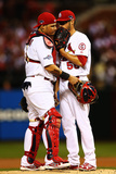 October 11, 2013 - St Louis, MO: NLCS - Los Angeles Dodgers v St Louis Cardinals - Game One Photographic Print by  Elsa