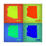 Arizona Pop Art Map 1 Prints by  NaxArt
