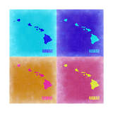 Hawaii Pop Art Map 2 Posters by  NaxArt