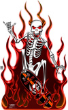 Skate Death Flame Lifesize Standup Cardboard Cutouts