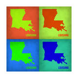 Louisiana Pop Art Map 1 Prints by  NaxArt