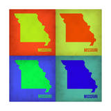 Missouri Pop Art Map 1 Prints by  NaxArt