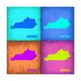 Kentucky Pop Art Map 1 Art by  NaxArt