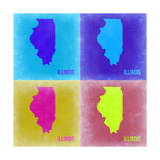Illinois Pop Art Map 2 Posters by  NaxArt