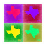 Texas Pop Art Map 2 Posters by  NaxArt