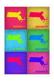 Massachusetts Pop Art Map 1 Photo by  NaxArt