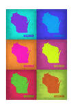 Wisconsin Pop Art Map 2 Posters by  NaxArt