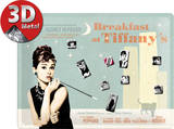 Breakfast at Tiffany's Blue Magnetic Board Plechová cedule