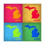 Michigan Pop Art Map 1 Prints by  NaxArt