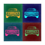 Chevy Camaro Pop Art 2 Print by  NaxArt