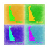 Delaware Pop Art Map 2 Posters by  NaxArt