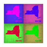 New York Pop Art Map 1 Posters by  NaxArt