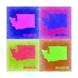 Washington Pop Art Map 2 Prints by  NaxArt