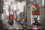 Times Square de Nueva York Reproducción en lienzo de la lámina