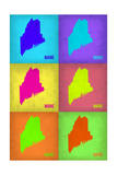 Maine Pop Art Map 1 Posters by  NaxArt