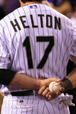 Sep 25, 2013 - Denver, CO: Boston Red Sox v Colorado Rockies - Tod Helton Photographic Print by Doug Pensinger