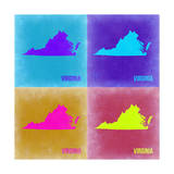 Virginia Pop Art Map 2 Posters by  NaxArt