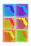 Florida Pop Art Map 2 Posters by  NaxArt