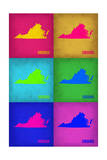 Virginia Pop Art Map 1 Posters by  NaxArt