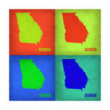 Georgia Pop Art Map 1 Prints by  NaxArt