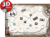 Route 66 Magnetic Board Tin Sign