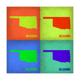 Oklahoma Pop Art Map 1 Prints by  NaxArt