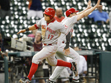 Sep 19, 2013 - Houston, TX: Cincinnati Reds v Houston Astros Photographic Print by Bob Levey