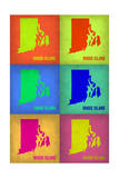 Rhode Island Pop Art Map 1 Posters by  NaxArt