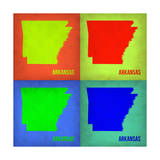 Arkansas Pop Art Map 1 Premium Giclee Print by  NaxArt