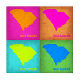 South Carolina Pop Art Map 1 Prints by  NaxArt